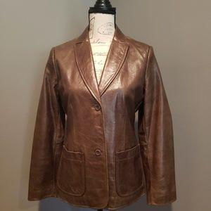 Womens Vintage Gap 100% LEATHER Jacket XS